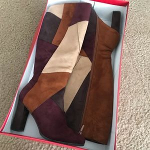 Color Block Boots